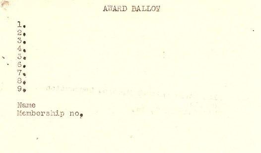 1953 Hugo Ballot Side B